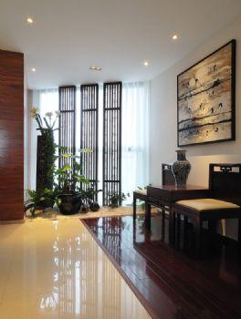 123平中式典雅温馨家中式过道装修图片