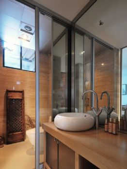 123平中式典雅温馨家中式卫生间装修图片