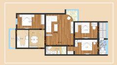 大红门现代风格三居室