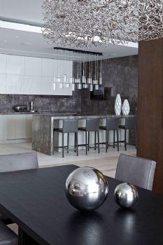 136平现代简约装修案例现代简约厨房装修图片