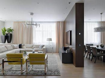 136平现代简约装修案例现代简约客厅装修图片