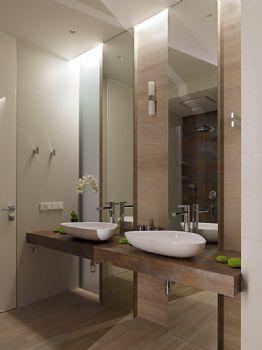 136平现代简约装修案例现代简约卫生间装修图片