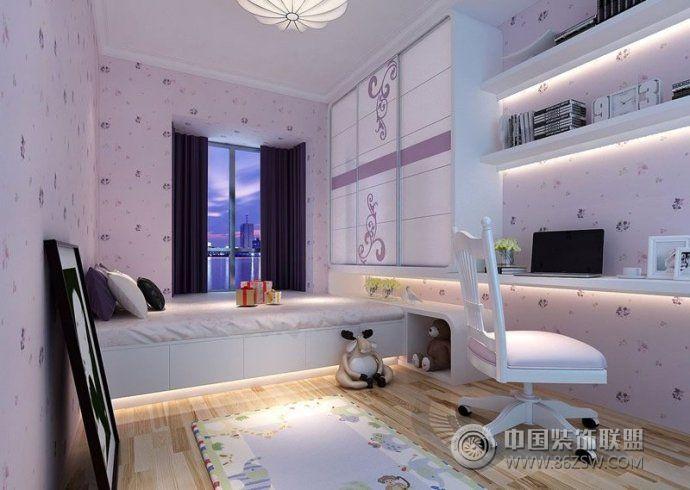 巧妙布局孩子卧室衣柜-儿童房装修图片