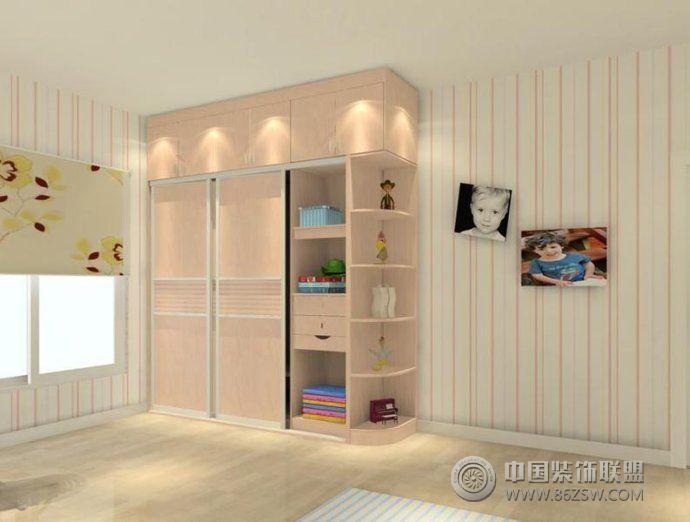 巧妙布局孩子卧室衣柜-儿童房装修效果图-八六(中国)