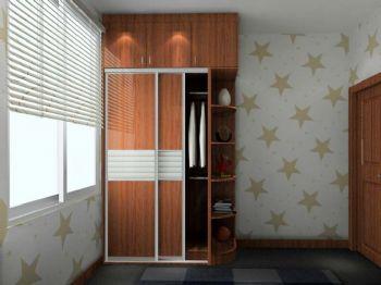 巧妙布局孩子卧室衣柜现代风格儿童房装修图片