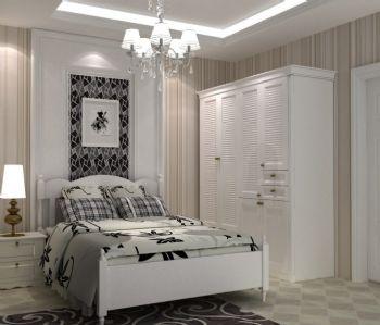 80平简约实木风格简约卧室装修图片