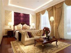 成都尚层装饰别墅装修简欧风格效果图欣赏(一)欧式卧室装修图片