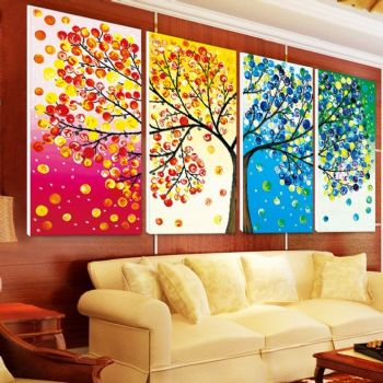 大气时尚客厅背景墙现代客厅装修图片