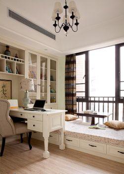 155平美式乡村雅居装修案例美式书房装修图片