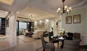 155平美式乡村雅居装修案例美式餐厅装修图片