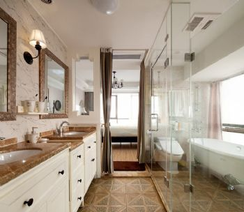 155平美式乡村雅居装修案例美式卫生间装修图片