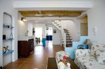 133平地中海复式美家地中海客厅装修图片