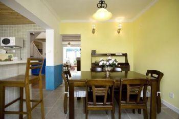 133平地中海复式美家地中海餐厅装修图片
