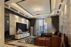 中梁天域125平米现代简约也能如此高端奢华现代简约风格三居室