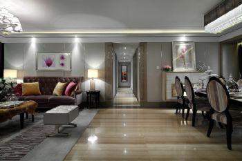 165平新古典精品公寓古典过道装修图片