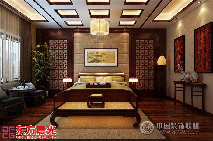 中式古典别墅装修设计素雅之美-客厅装修效果图-八六图片