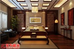 中式古典别墅装修设计素雅之美中式客厅装修图片