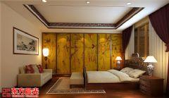 中式别墅装修设计案例空灵古雅中式卧室装修图片