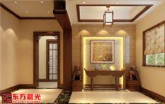 中式别墅装修设计案例空灵古雅中式玄关装修图片