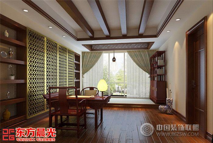 别墅客厅设计中式风格的古色古香与现代风格的