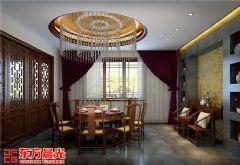 中式别墅装修设计案例空灵古雅中式餐厅装修图片