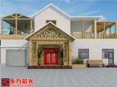 中式风格别墅装修设计案例原木构架中式风格别墅