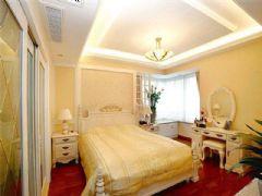 成都尚层装饰别墅装修欧美风格案例效果图欣赏(三)欧式卧室装修图片