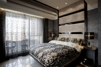 220平现代时尚别墅现代卧室装修图片