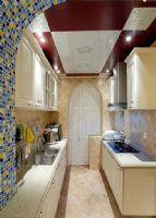 中海凤凰熙岸128平方3居室-田园效果图田园厨房装修图片