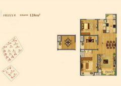 中海凤凰熙岸128平方3居室-田园效果图田园其它装修图片