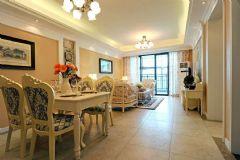 中海凤凰熙岸128平方3居室-田园效果图田园风格三居室