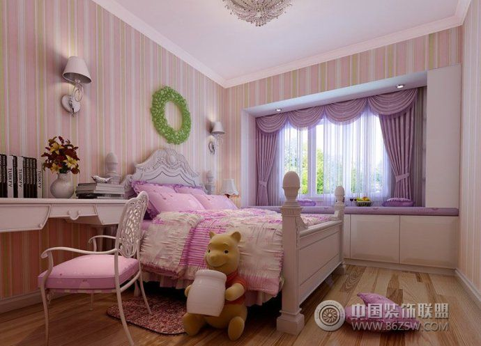 儿童房装修效果图-卧室装修效果图-八六(中国)装饰