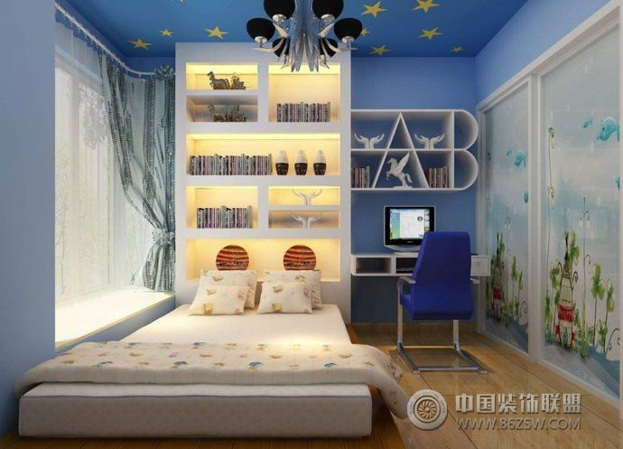 儿童房装修效果图-卧室装修效果图-八六装饰网装修