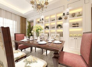 238平法式大气别墅混搭餐厅装修图片