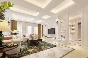 238平法式大气别墅混搭客厅装修图片