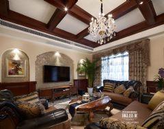 武汉尚层装饰招商公园1872美式风格方案展示美式风格别墅