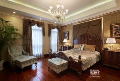 武汉尚层装饰招商公园1872美式风格方案展示美式卧室装修图片