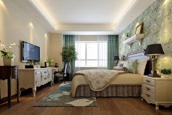 140平美式精品公寓美式卧室装修图片