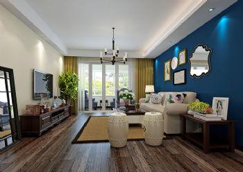 140平美式精品公寓美式客厅装修图片