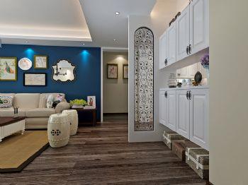 140平美式精品公寓美式过道装修图片