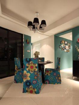 140平美式精品公寓美式餐厅装修图片