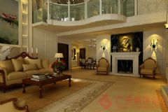 龙湖葡醍海湾装修案例——烟台广来装饰简约客厅装修图片