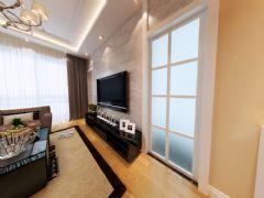 莲花池畔装修案例现代风格三居室