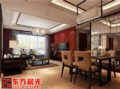 温馨甜美中式别墅装修设计中式餐厅装修图片