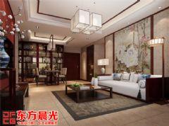 温馨甜美中式别墅装修设计中式客厅装修图片