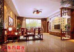 古朴雅洁中式别墅装修设计中式客厅装修图片