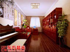 古朴雅洁中式别墅装修设计中式书房装修图片