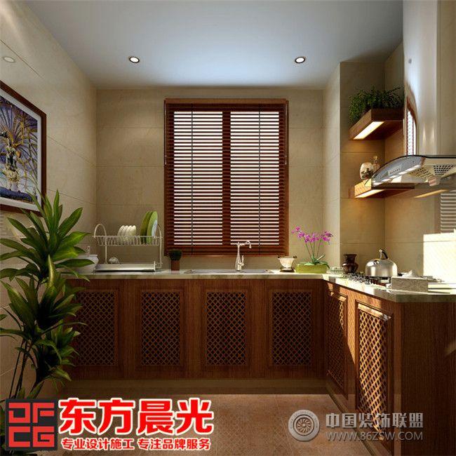 现代中式别墅装修设计赏心悦目-厨房装修图片