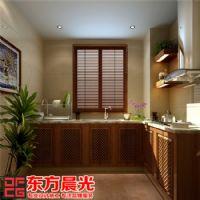 现代中式别墅装修设计赏心悦目中式厨房装修图片