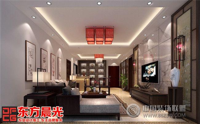 整套別墅簡約中式裝修設計圖中式客廳裝修圖片